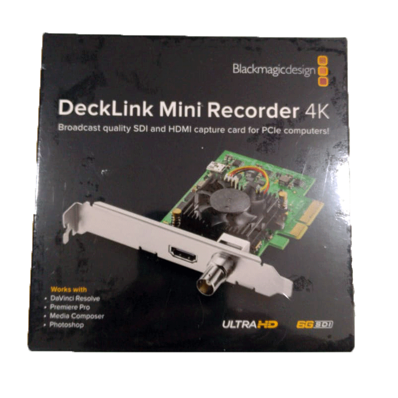 Blackmagic Design Decklink Mini Recorder 4k Buy All Broadcast Item Online